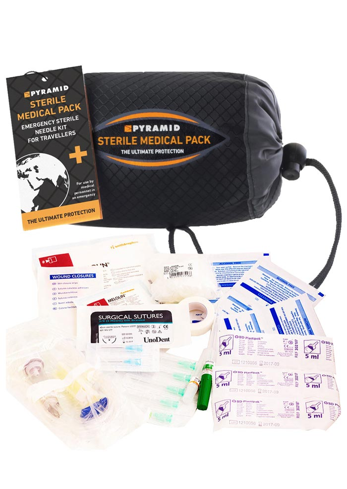 Sterile Medical Pack And Giving Bag And Contents