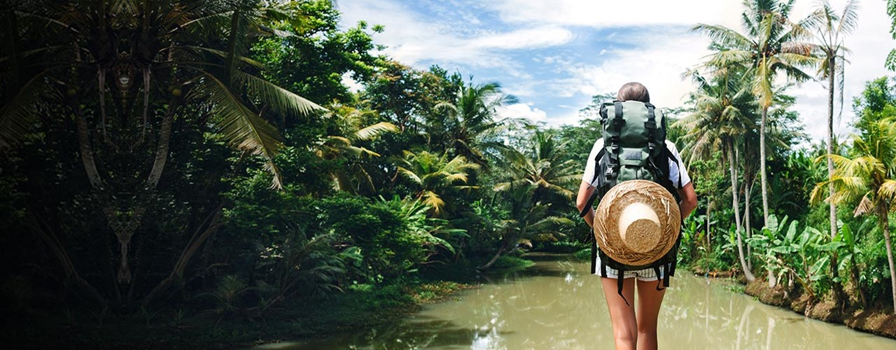 Girl With Backpack Dirty Water 1280X484