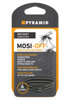 Mosi Off Insect Repellent Wrist Bands 4 Pack in Box