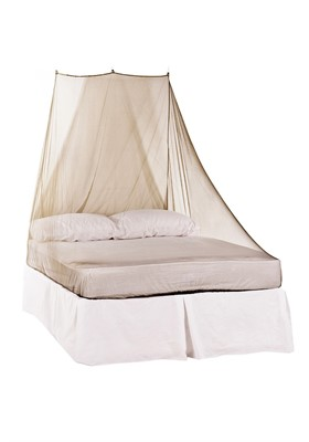 Double Bed Wedge Mosquito Net in Green