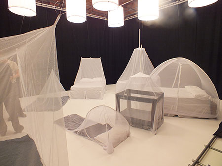 Mosquito Net Set Up At Video Shoot